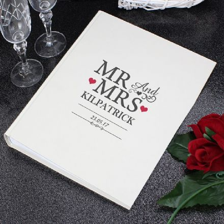 Personalised Mr And Mrs Photo Album With Sleeves